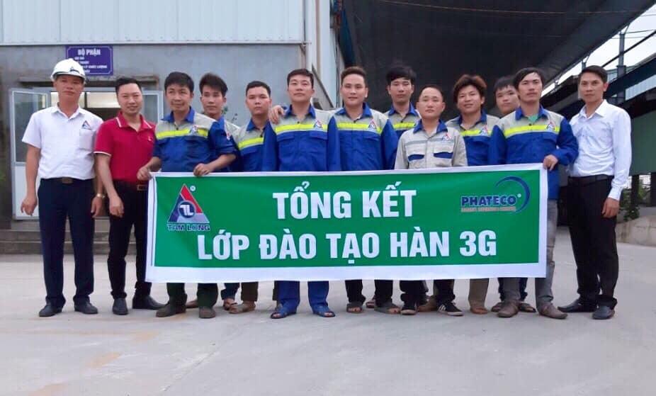 Lớp đào tạo hàn 3G tháng 04/2019